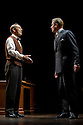 """London, UK. 26/03/2012. """"The King's Speech"""" opens at the Wyndhams Theatre, London. Picture shows: Jonathan Hyde (as Lionel Logue) and Charles Edwards (as King George VI).  Photo credit: Jane Hobson"""