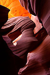 Lower Antelope Canyon, a slot canyon near Page, Arizona.