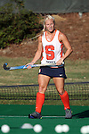 23 September 2016: Syracuse's Caroline Cady. The University of North Carolina Tar Heels hosted the Syracuse University Orange at Francis E. Henry Stadium in Chapel Hill, North Carolina in a 2016 NCAA Division I Field Hockey match. UNC won the game 3-2 in two overtimes.
