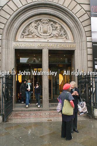 National Portrait Gallery, London.  Main entrance.