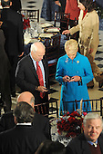 Washington, DC - January 20, 2009 -- United States Senator John McCain (Republican of Arizona) and his wife, Cindy check their Blackberries before the luncheon at Statuary Hall in the U.S. Capitol in Washington DC following Barack Obama's swearing in as the 44th President of the United States on January 20, 2009..Credit: Amanda Rivkin - Pool via CNP
