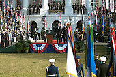 United States President Barack Obama and first lady Michelle Obama welcome Prime Minister David Cameron of Great Britain and his wife, Samantha, to the White House in Washington, D.C. on Wednesday, March 14, 2012..Credit: Ron Sachs / CNP