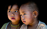 Khmu children from a mountain village near Luang Prabang, Laos.