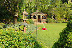 Vallamont Drive, Williamsport, PA. Weavers' home. Backyard garden and gazebo.