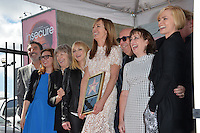LOS ANGELES, CA. October 17, 2016: Chuck Lorre &amp; Gemma Baker &amp; Mimi Kennedy &amp; Anna Faris &amp; Allison Janney &amp; Beth Hall &amp; Jaime Pressly at the Hollywood Walk of Fame Star ceremony honoring actress Allison Janney.<br /> Picture: Paul Smith/Featureflash/SilverHub 0208 004 5359/ 07711 972644 Editors@silverhubmedia.com