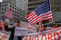 NEW YORK,NY October 29,2016.Hundreds of Trump supporters rallied outside of Trump Tower in New York City, October 29,2016. Photo by VIEWpress/Maite H. Mateo