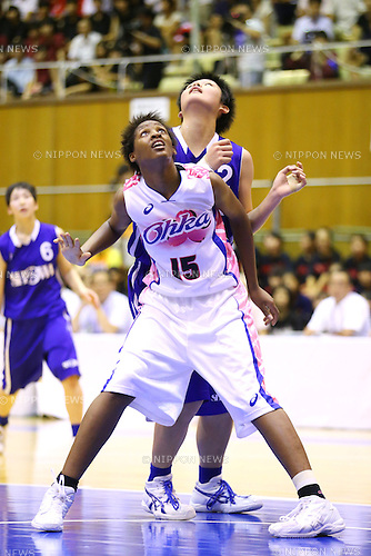 Sakura Akaho (Showa Gakuin), Stephanie Mauri (Oka Gakuen), <br /> AUGUST 7, 2014 - Basketball : 2014 All-Japan Inter High School Championships, <br /> Women's final <br /> at Yachiyo city gymnasium, Chiba, Japan. <br /> (Photo by Yohei Osada/AFLO SPORT)