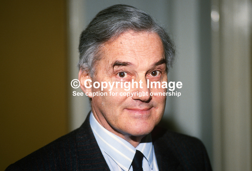 Sir Peter Harrop, chairman, UK Committee, European Year of the Environment, 19880301PH..Copyright Image from Victor Patterson, 54 Dorchester Park, Belfast, UK, BT9 6RJ..Tel: +44 28 9066 1296.Mob: +44 7802 353836.Voicemail +44 20 8816 7153.Skype: victorpattersonbelfast.Email: victorpatterson@me.com.Email: victorpatterson@ireland.com (back-up)..IMPORTANT: If you wish to use this image or any other of my images please go to www.victorpatterson.com and click on the Terms & Conditions. Then contact me by email or phone with the reference number(s) of the image(s) concerned.