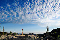 Hiker at Harney Peak Trail, Custer State Park, Black Hills, South Dakota, USA