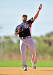 1 March 2010: Washington Nationals' first baseman Josh Whitesell takes Spring Training fielding drills at the Carl Barger Baseball Complex in Viera, Florida. Mandatory Credit: Ed Wolfstein Photo