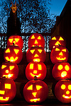 Halloween with Pumpkins on steps