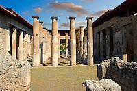 Peristyle of `Roman Villa of Pompeii
