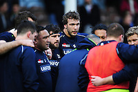 Andrei Ostrikov of Sale Sharks looks on during the pre-match warm-up. Aviva Premiership match, between Harlequins and Sale Sharks on January 7, 2017 at the Twickenham Stoop in London, England. Photo by: Patrick Khachfe / JMP