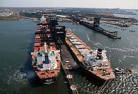 1992 May ..Conservation.Lamberts Point...Aerial view.Coal Ships loading...NEG#.NRHA#..CONSERV: Lambert1 2:2