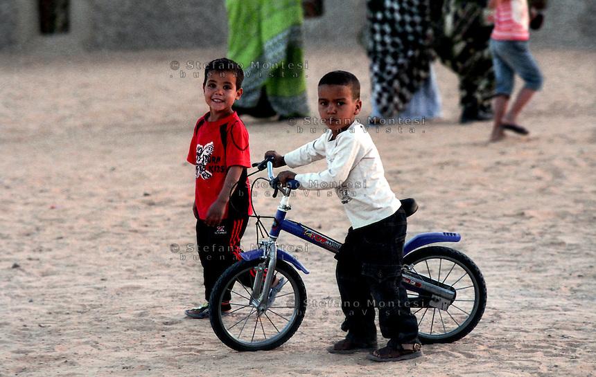 Sahara Occidentale .21 Gennaio 2010.Campo Profughi Saharawi Auserd..Western Sahara.21 January 2010.Saharawi refugee camp Auserd..