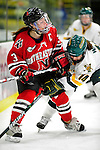 30 October 2009: Northeastern University Huskies' forward Annie Hogan, a Senior from Medford, MA, in action against the University of Vermont Catamounts at Gutterson Fieldhouse in Burlington, Vermont. The Catamounts were shut out by the visiting Huskies 3-0. Mandatory Credit: Ed Wolfstein Photo