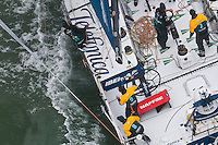 NEW ZEALAND. 11th March 2012. Volvo Ocean Race Leg 4. Leg finish Auckland.