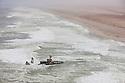Namibia, Namib Desert, Skeleton Coast, aerial view of shipwreck Zeila; it stranded in 2008