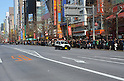 "January 23, 2011, Tokyo, Japan - A well-packed crowd await the reopening of reopened ""Pedestrian Paradise"" in Tokyo's Akihabara district on Sunday, January 23, 2011. A record crowd of about 100,000 turned out as the 570-meter stretch of the main street in Japan's electronics mecca reopened to shoppers and tourists for the first time in two years and seven months after the 2008 stabbing rampage that left seven dead and 10 others injured. (Photo by Natsuki Sakai/AFLO) [3615] -mis-"