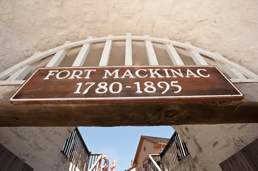 Fort Mackinac on Mackinac Island Michigan.