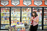 Sharon Ferrell shops for a month's worth of groceries in Roseville, CA May 13, 2009.