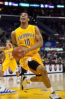 Jamal Boykin looks to the basket. The California Golden Bears defeated the UCLA Bruins 85-72 during the semifinals of the Pacific Life Pac-10 Conference Tournament at Staples Center in Los Angeles, California on March 12th, 2010.
