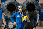U.S. Navy Lieutenant Commander John Hlitz '02 flies with the Blue Angels.  &quot;I take a ton of pride in being from the University of Notre Dame. I'll always be proud to call myself a Notre Dame man,&quot; says Hiltz.<br /> <br /> Photo by Matt Cashore/University of Notre Dame