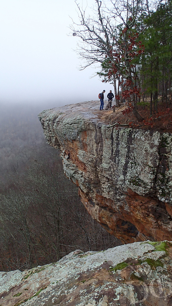 NWA Democrat-Gazette/FLIP PUTTHOFF <br /> Hawksbill Crag is usually photographed from the west side of the crag looking east. This photo  Jan. 19 2017 is from the east side looking west.