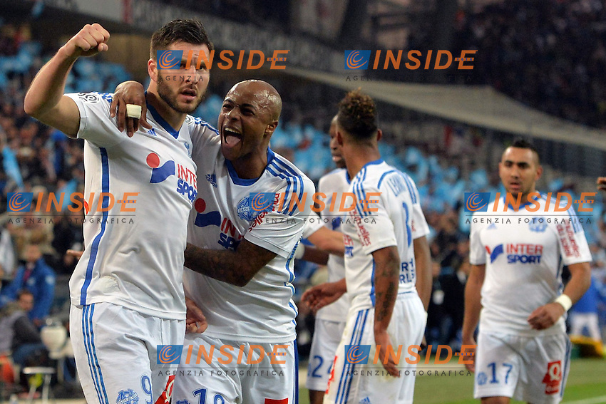 1er But Andre Pierre Gignac (om) <br /> Football Calcio 2014/2015<br /> Ligue 1 Francia Stadio VelodromeOlympique Marsiglia - Paris Saint Germain <br /> Foto Panoramic / Insidefoto <br /> ITALY ONLY