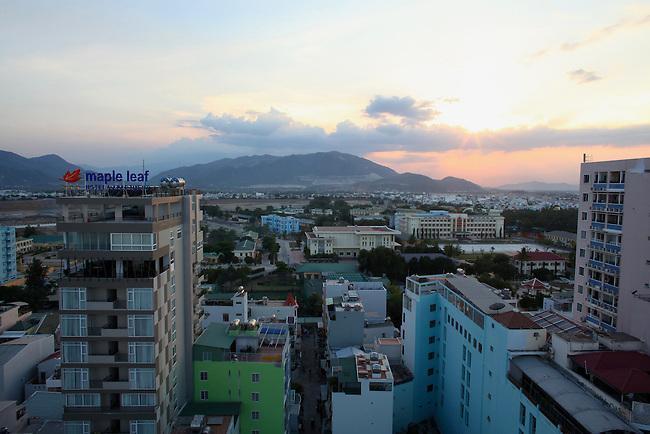 Tourist district, late afternoon. Nha Trang, Vietnam. April 22, 2016.