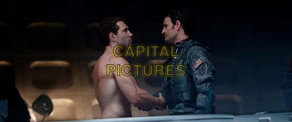 Jai Courtney &amp; Jason Clarke<br /> in Terminator Genisys (2015) <br /> *Filmstill - Editorial Use Only*<br /> CAP/FB<br /> Image supplied by Capital Pictures