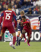 Real Salt Lake forward Robbie Findley (10) on the attack. Real Salt Lake defeated the New England Revolution, 2-1, at Gillette Stadium on October 2, 2010.