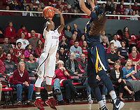 Stanford, Ca - Tuesday, February 2, 2016: The Stanford Women's Basketball 53-46 over Cal at Maples Pavilion.