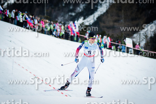 Ida Sargent (USA) during Ladies 1.2 km Free Sprint Qualification race at FIS Cross<br /> Country World Cup Planica 2016, on January 16, 2016 at Planica,Slovenia. Photo by Ziga Zupan / Sportida