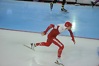 SCHAATSEN: GRONINGEN: Sportcentrum Kardinge, 17-01-2015, KPN NK Sprint, Maurice Vriend, ©foto Martin de Jong