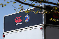 A general view of Canterbury / Bath Rugby branding. The Clash, Aviva Premiership match, between Bath Rugby and Leicester Tigers on April 8, 2017 at Twickenham Stadium in London, England. Photo by: Rogan Thomson / JMP for Onside Images