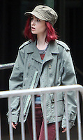 NEW YORK, NY-July 23: Lily Collins shooting on location for Netflix & Plan B Enterainment  film Okja in New York. NY July 23, 2016. Credit:RW/MediaPunch