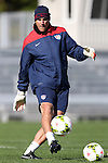 14 October 2014: U.S. goalkeeper coach Paul Rogers (ENG). The United States Women's National Team held a training session on the stadium field at Swope Park Soccer Village in Kansas City, Missouri in preparation for the CONCACAF Women's World Cup Qualifying Tournament for the 2015 Women's World Cup in Canada.