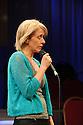 "Edinburgh, UK. 03.08.2015. ""THE CHRISTIANS"" opens at the Traverse Theatre, during the Edinburgh Festival Fringe.  Picture shows: Lucy Ellinson (Congregant).  Photograph © Jane Hobson."