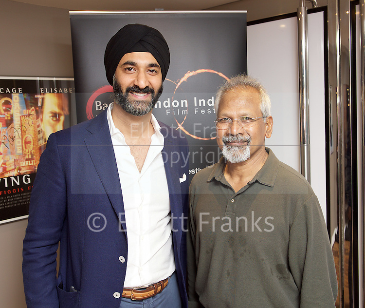 Mani Ratnam Screen Talk on-stage interview with the man attributed to revolutionising Tamil cinema and inspiring Bollywood. Interviewed by Peter Webber Girl with a Pearl Earring, Director at the BFI Southbank, London, Great Britain July 19th 2015 as part of the London Indian Film Festival programme. <br /> <br /> <br /> Photograph by Elliott Franks <br /> 2015 &copy; Elliott Franks <br /> www.elliottfranks.com<br /> elliottfranks@gmail.com