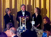 United States President Bill Clinton makes remarks at the White House Millennium dinner in Washington, D.C. on December 31, 1999. (L-R) First Lady Hillary Rodham Clinton, United States President Bill Clinton, Chelsea Clinton.  At far right is actress Sophia Loren..Credit: Ron Sachs / CNP.