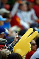 28 February 2010: Fans during the USC Trojans Baseball team during the first annual Dodgertown Classic at Dodger Stadium at Chavez Ravine. A college baseball round robin tournament sponsored by the MLB Los Angeles Dodgers. 14,588 were in attendance to watch the UCLA Bruins defeat the USC Trojans 6-1 on a sunny afternoon in Southern California.