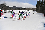 FRANCONIA, NH - MARCH 11:   Athletes skate uphill during the Men's 20K Freestyle event at the Division I Men's and Women's Skiing Championships held at Jackson Ski Touring on March 11, 2017 in Jackson, New Hampshire. (Photo by Gil Talbot/NCAA Photos via Getty Images)