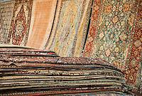 Oriental rug store display.