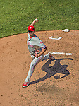 26 May 2013: Philadelphia Phillies pitcher Justin De Fratus on the mound against the Washington Nationals at Nationals Park in Washington, DC. The Nationals defeated the Phillies 6-1, taking the rubber game of their 3-game weekend series. Mandatory Credit: Ed Wolfstein Photo *** RAW (NEF) Image File Available ***