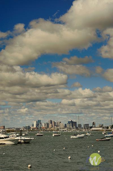 Boston and Boston Harbor.