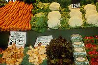 Display of vegetables