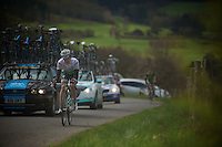 Liege-Bastogne-Liege 2012.98th edition..Matthew Brammeier getting it hard on the Cote de Wanne