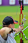 LONDON, ENGLAND 27/08/2012 - Norbert Murphy of the Canadian Paralympic Archery Team at a training session at the London 2012 Paralympic Games at The Royal Artillery Barracks. (Photo: Phillip MacCallum/Canadian Paralympic Committee)