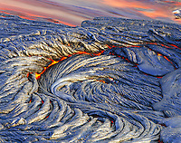 Pahoehoe lava flow from Kilauea Volcano, Big Island of Hawaii